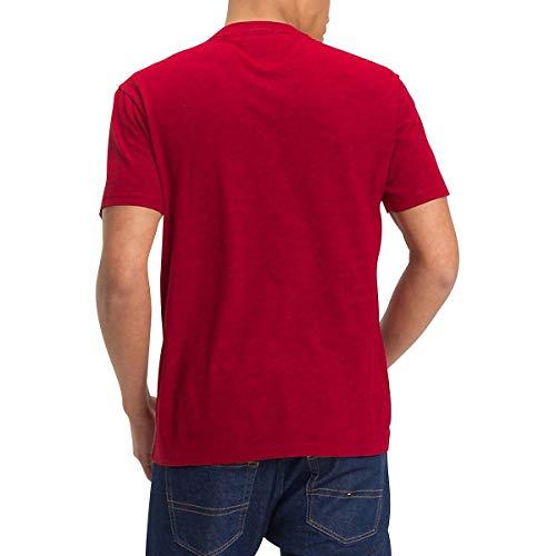 para Tommy Collegiate Hombre Red tee Camiseta Jeans TJM 7qvBT