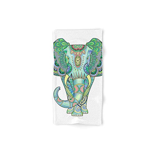 Society6 Bath Towel, 30'' x 15'', Mandala Elephant by ayelenibarra by Society6
