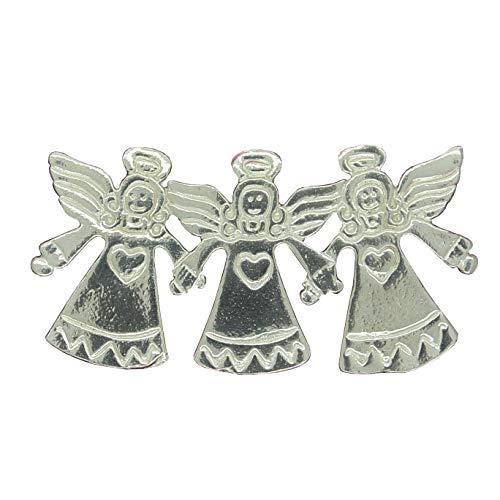 Angel Brooch, Angel Pin, Angel Jewellery, Three Angels, Christmas Brooch, Fine Pewter, Handmade, by William Sturt