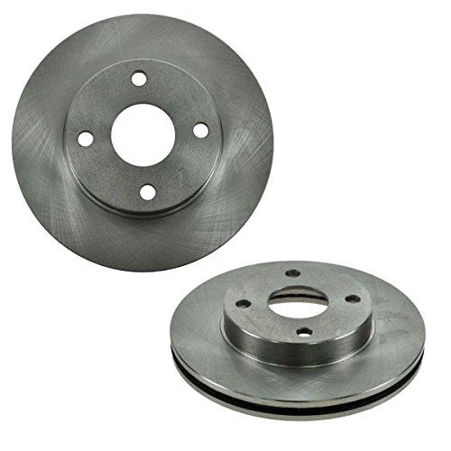 Front Disc Brake Rotors LH & RH Pair Set of 2 for 99-01 Mazda Protege 1.6L