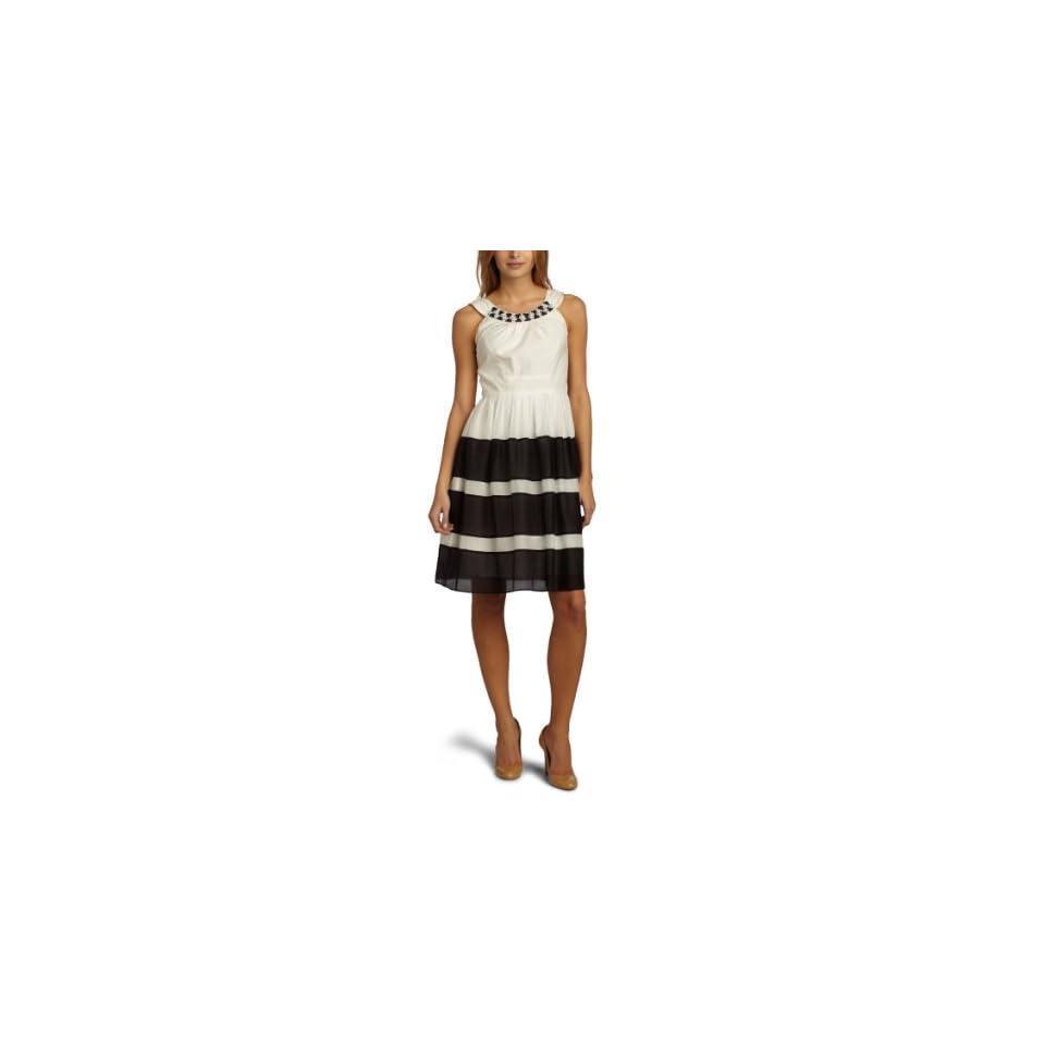 JAX Womens U Neck Voile Dress