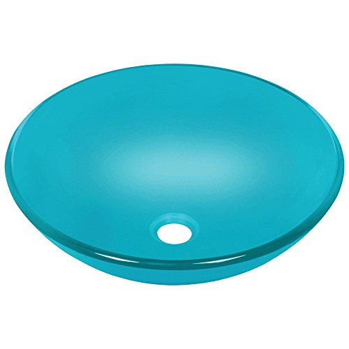 601 Turquoise Coloured Glass Vessel Sink by MR Direct (Image #1)