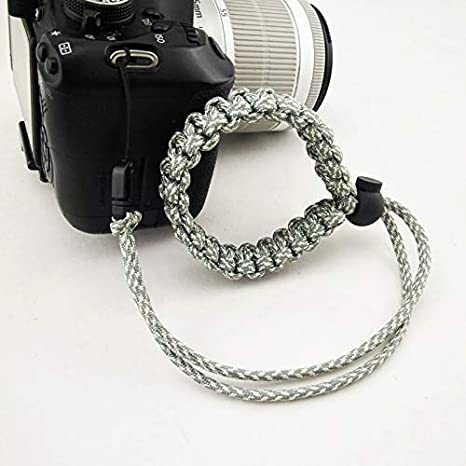 ROWEQPP Fashion Braided Digital Camera Strap Camera Wrist Strap Hand Grip Wristband Replacement for Nikon Compatible with Canon Compatible with Sony Blue