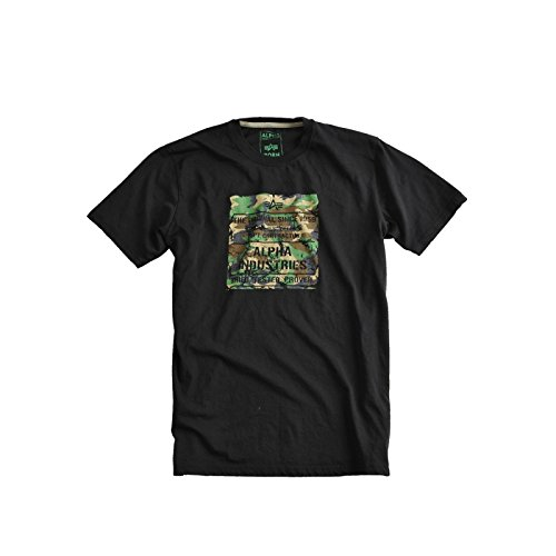 Alpha Industries - Woody T-Shirt schwarz