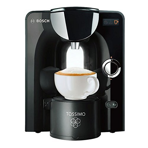 Bosch Tassimo T55Plus coffee Brewer and Beverage System. Sleek Black and Chrome Finish.   This is the updated T55 model, which comes with Mavea Maxtra Water Filtration System ( 2 Filters Included).