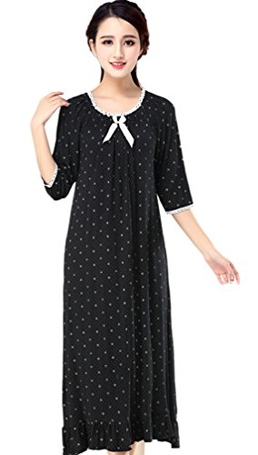 Soojun Womens Cotton Victorian Nightgown