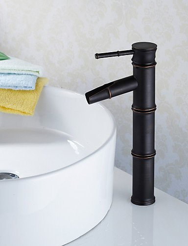 personalisierte Waschbecken Wasserhahn traditionellen Bambus-StÖl Öl-rieb Bronze-Finish