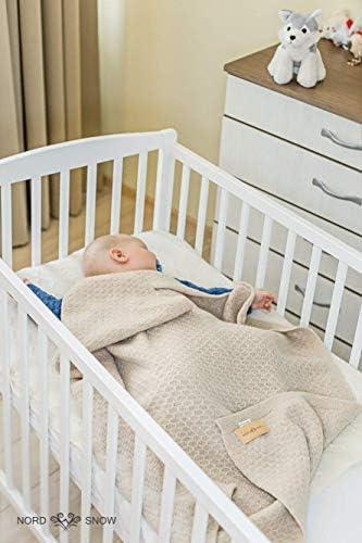 North Snow - Manta de lana de merino para bebé recién nacido, antialérgica y muy suave beige arena Talla:Baby