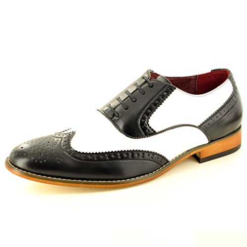 My Perfect Pair - Zapato para hombre de color negro de talla uk tamaño 10 /eu tamaño 44 Negro / blanco