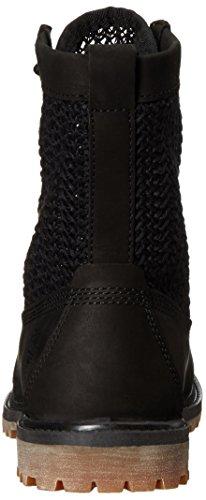 Nubuck Boot Black black Women's Weave Timberland 6 Open IwAYxq8