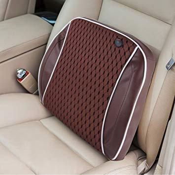 Uniqus Car Family Back Waist Electric Vibration Massage USB Charging Pillow Mat (Brown)