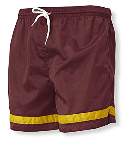 Code Four Athletics 'Vashon' team soccer shorts - size Adult L - color Maroon/Gold - Maroon Football Jersey