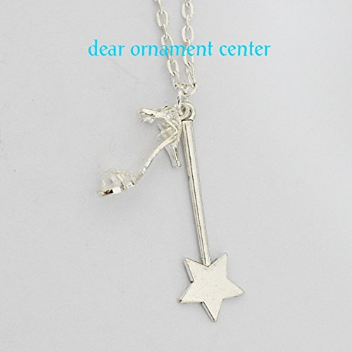 Handmade Cinderella Necklace with Magic Wand
