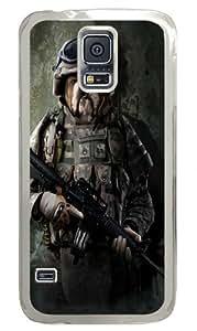 Marine Sam Bulldog Custom Samsung Galaxy S5/Samsung S5 Case Cover Polycarbonate Transparent by runtopwell