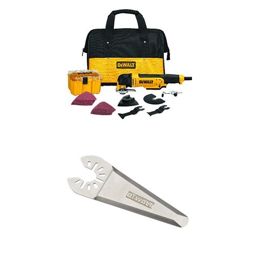 DEWALT DWE315K Multi Material Corded Oscillating Tool Kit with Oscillating Triangular Rigid Scraping Blade by...
