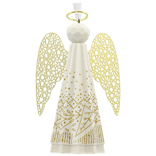Country Angel Ornament - Hallmark Signature Premium Christmas Ornament Angel, Porcelain and Metal
