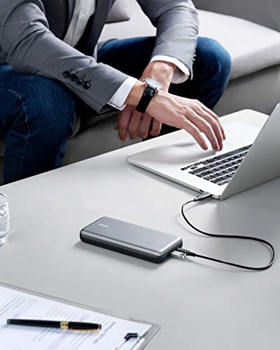 Anker PowerCore+ 19000 PD Hybrid Portable Charger and USB-C Hub with Included USB-C Wall Charger, Power Delivery Power Bank Compatible with Nexus 5X / 6P, iPhone Xs/XR/X / 8, MacBooks, and More by Anker (Image #6)