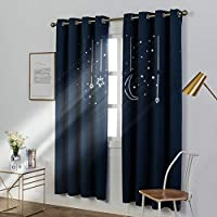 MANGATA CASA Kids Star Blackout Curtains with Grommets 2...