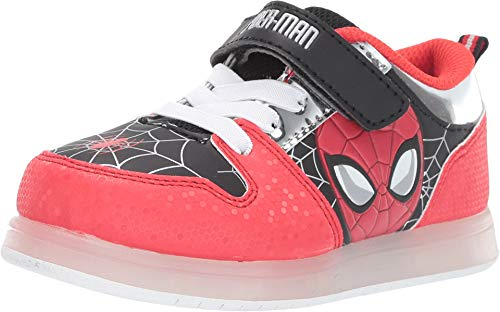 Favorite Characters Boys Marvel Spider-Man Motion Lighted Sneaker (Toddler/Little Kid), Size 10 Red -