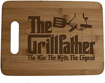 Father/'s Day gift Engraved Cutting board Gift for Grandpa --21065-CUTB-004 Cutting board Host gift King of the Grill Cutting Board