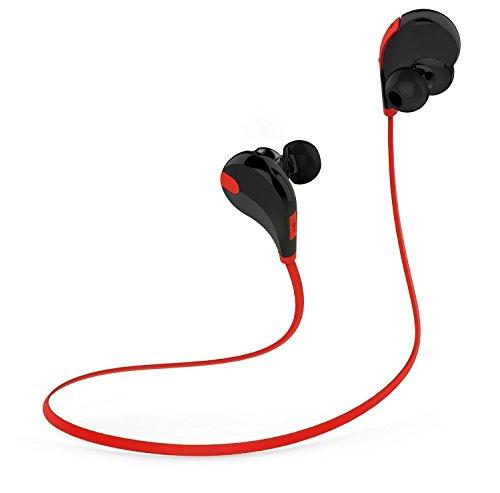 Minisuit Wireless Headphones, Bluetooth Speaker for Universal SmartPhones - Retail Packaging - Black/Red