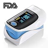 Elera FDA Fingertip Pulse Oximeter Oled Display Sports Instant Read Digital Pulse Oximeter Oxygen Sensor Pulse Rate Monitor With lanyard Blue color