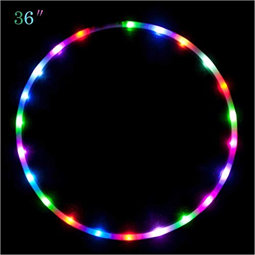 "Maikerry 36"" Led Hula Hoop for for Kids and Adults Changing LED Lights Light Weight Hula Hoops"