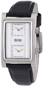 Hugo Boss Dual Time - Reloj de cuarzo para hombres, color negro