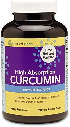 InnovixLabs Curcumin Turmeric w C3 Reduct, C3 Complex BioPerine Black Pepper for Higher Absorption, 100 Time-Release Tablets, 95 Tetra-Hydro-Curcumin, Turmeric Curcumin Supplement, Curcumin Supple