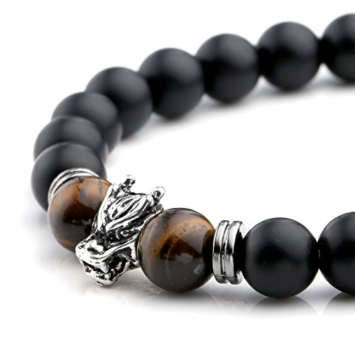 Dragon Head Agate Tiger Eye Stone Bracelet