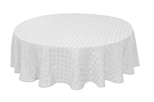 Tablecloth Oval White - Bardwil Chandler 60
