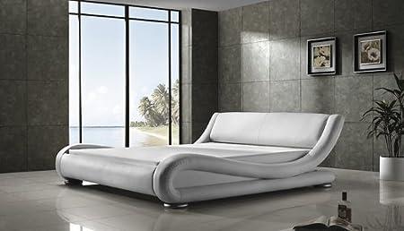 Kasper Wohndesign Moonlight White 160 X 200 Cm Luxury Upholstered