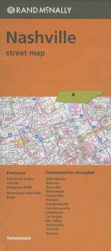 Folded Map Nashville TN Street product image