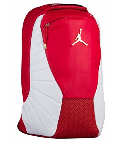Price comparison product image Nike Jordan Retro 12 Backpack W / Laptop Pocket Gym Red / White