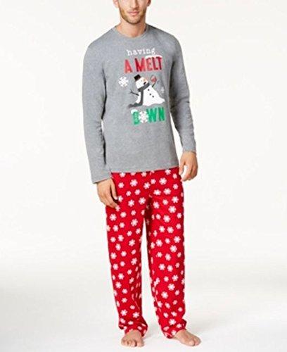 Family Pajamas Men's Snowflake Meltdown Pajama Set