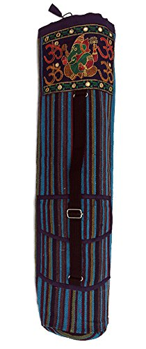 Blue Striped Ganesh Yoga Mat Bags