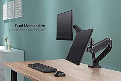 EleTab Dual Monitor Desk Mount Stand Height Adjustable