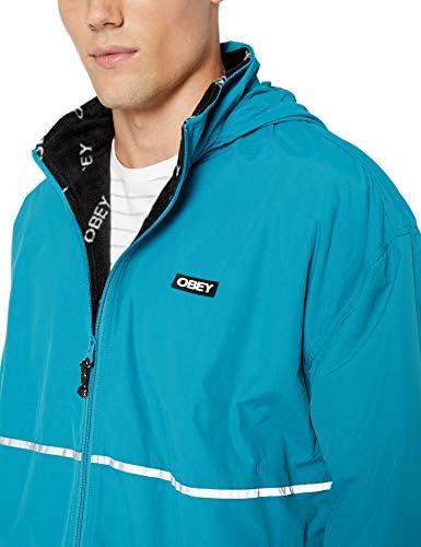 Obey Men's Prone Jacket, Pure Teal, Medium
