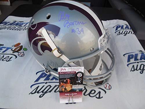 - Alex Barnes Autographed Signed Memorabilia Kansas K Ksu State Wildcats Full Size Helmet - JSA Authentic