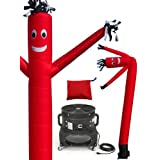 LookOurWay Air Dancer Tube Man Fly Guy Puppet Complete Set, 20-Feet, Red