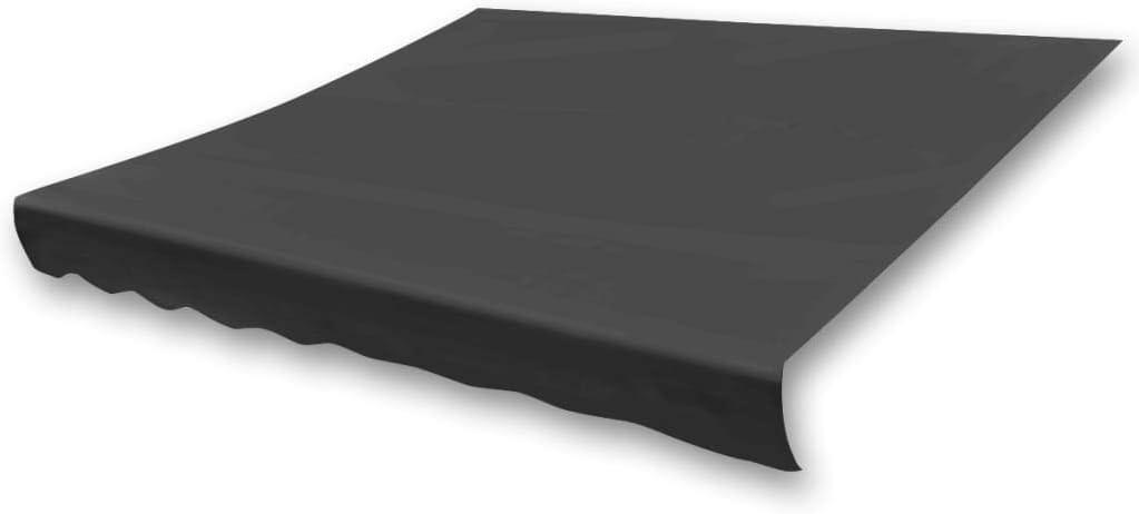 Tidyard Store dauvent Toile avec Rev/êtement Hydrofuge R/ésistant aux UV Anthracite 336 x 246 cm Cadre Non Inclus