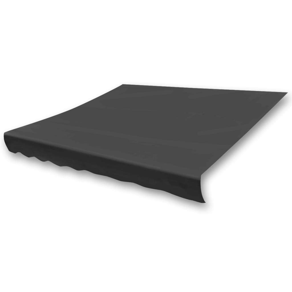 vidaXL Markisenstoff Sonnenschutz Markisentuch Anthrazit 450/×300 cm Segeltuch