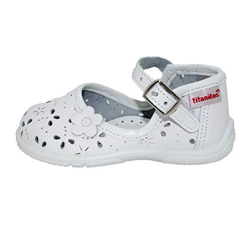 Sandales Titanitos Fille pour Blanc Blanc TnZUqa