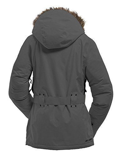 Jeff Green Malmo - Chaqueta deportiva de invierno, para mujer, color gris oscuro, talla XXL