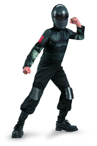 (G.i. Joe Retaliation Snake Eyes Classic Costume, Black,)