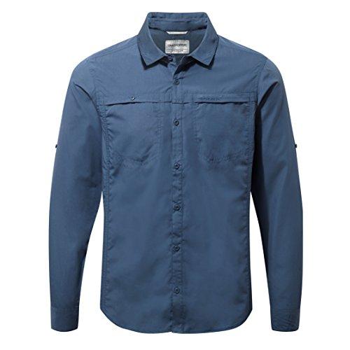 Craghoppers Men's Kiwi Trek Long-Sleeved Shirt, Vintage Indigo, Large from Craghoppers