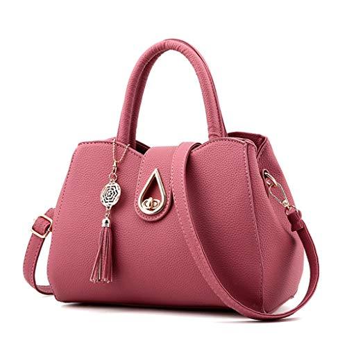 pelle PU Borsa dimensioni donna tracolla a 2 in S a 8 Handbag tracolla Colore spalla con A wn1qz1fF4