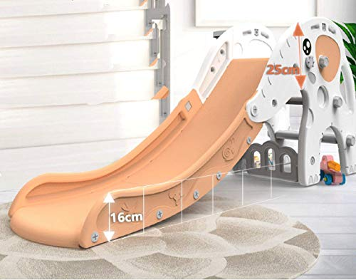 Thole Slide Climber with Basketball Hoop Elephant for Boys Girls Indoor Outdoor Backyard Use First Slide Playground Plastic Play by Thole (Image #4)