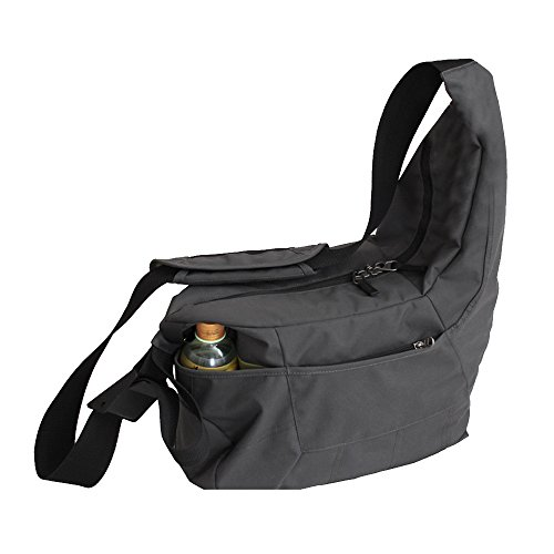 Cuitan DSLR Camera Bag Sling Shoulder Bag Travelling Messenger Bag, Durable Nylon Bag for DSLR SLR Cameras, Multifunctional Organizer Casual Bag Carry Bag Camera Bag for Women Men Girls Boys - Grey