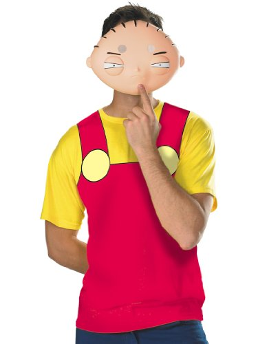 Family Guy Stewie Costume T-Shirt and Mask Theatrical Mens Easy Costume Sizes: XX-Large